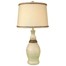 Coastal Lamp Slender Neck Casual Pot W/ Rope Accent