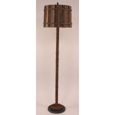 Coastal Lamp Manila Rope Floor Lamp W/ Painted Base