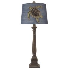 Sea Turtle Table Lamp Square Candlestick Pot