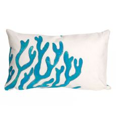 "Liora Manne Visions I Coral Indoor/Outdoor Pillow Blue 12""X20"""