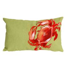 "Liora Manne Visions I Crab Indoor/Outdoor Pillow Red 12""X20"""