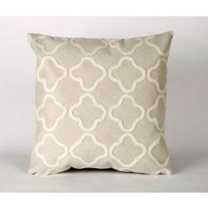 "Liora Manne Visions I Crochet Tile Indoor/Outdoor Pillow White 20"" Square"