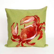 "Liora Manne Visions I Crab Indoor/Outdoor Pillow Red 20"" Square"
