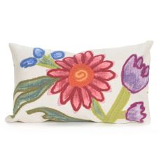 "Liora Manne Visions III Gypsy Flower Indoor/Outdoor Pillow Multi 12""X20"""