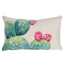"Liora Manne Visions III Cactus Pear Indoor/Outdoor Pillow Ivory 12""X20"""