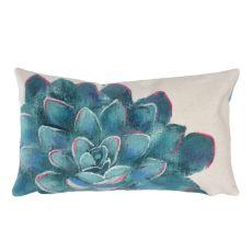 "Liora Manne Visions III Succulent Indoor/Outdoor Pillow Ivory 12""X20"""