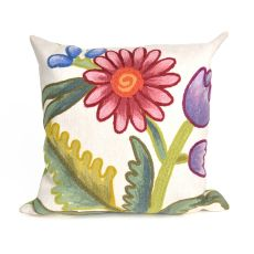 "Liora Manne Visions III Gypsy Flower Indoor/Outdoor Pillow Multi 20"" Square"