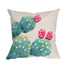 "Liora Manne Visions III Cactus Pear Indoor/Outdoor Pillow Ivory 20"" Square"