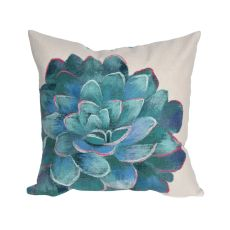 "Liora Manne Visions III Succulent Indoor/Outdoor Pillow Ivory 20"" Square"
