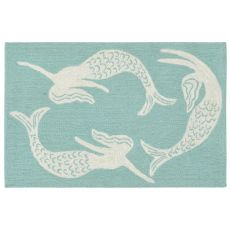 Liora Manne Capri Mermaids Indoor/Outdoor Rug Blue 20 in. x 30 in.
