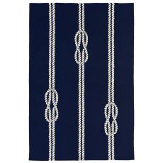 Liora Manne Capri Ropes Indoor/Outdoor Rug Navy 24 in. x 60 in.