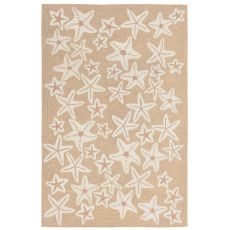 Liora Manne Capri Starfish Indoor/Outdoor Rug Natural 24 in. x 60 in.