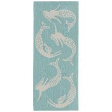 "Liora Manne Capri Mermaids Indoor/Outdoor Rug Blue 24""X60"""