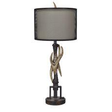 Industrial Antler Table Lamp