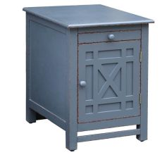 Weston Slate Grey 1 Door / 1 Pull Out Shelf Chairside Table
