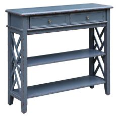 Weston Slate Grey 2 Drawer Console