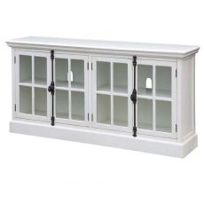 Coventry White Oak Finish 4 Door Media Console
