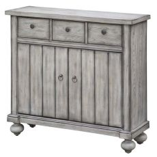 Paxton White Oak 3 Drawer / 2 Door Cabinet