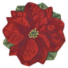 Liora Manne Frontporch Poinsettia Indoor/Outdoor Rug Red 3' RD