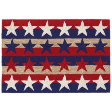 Liora Manne Frontporch Stars & Stripes Indoor/Outdoor Rug Red 24 in. x 60 in.