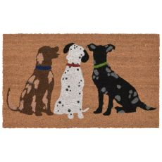 "Liora Manne Natura Three Dogs Indoor/Outdoor Mat Natural 18""X30"""