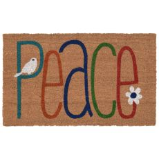 "Liora Manne Natura Peace Indoor/Outdoor Mat Natural 18""X30"""