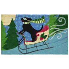 "Liora Manne Natura Sled Dog Indoor/Outdoor Mat Multi 18""X30"""