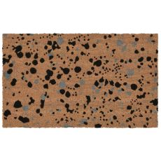 "Liora Manne Natura Splash Indoor/Outdoor Mat Black 18""X30"""