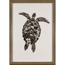 Gold Foil Sea Turtle I Framed Art