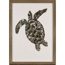 Gold Foil Sea Turtle II Framed Art