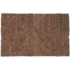 Dotted Motion Brown Shag And Loop Rug, 4.7 X 7.7