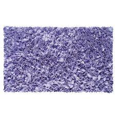 Shaggy Raggy Purple Shag Rug, 4.7 X 7.7