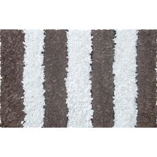 Brown Stripe Shag Shag Rug, 4.7 X 7.7