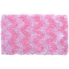 Shaggy Raggy Pink Chevron Shag Rug, 2.7 X 4.7