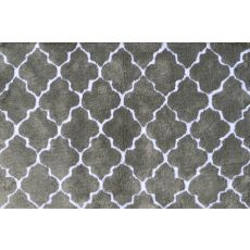 Cloture Grey Micro Shag Rug, 2.8 X 4.8