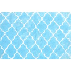 Cloture Blue Micro Shag Rug, 2.8 X 4.8