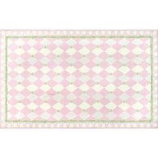 Harlequin Pink Hook Rug, 4.7 X 7.7