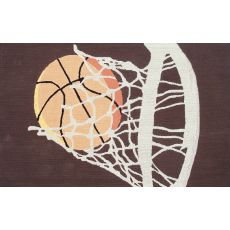 Hoops Hook/Flannel Rug, 2.8 X 4.8