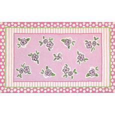 """Scribble Floral Flannel/Loop Rug, 4'7"""" X 7'7"""""""