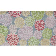 Multi Rose Hook Rug, 2.8 X 4.8