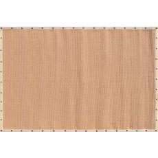 Beige Border W Nail Head Sisal Rug, 8 x 10