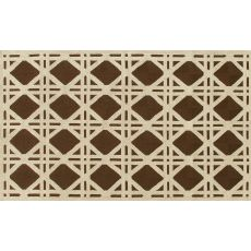 Cane Brown Hook Rug, 5 X 8