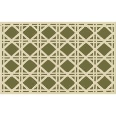 Cane Green Hook Rug, 5 X 8