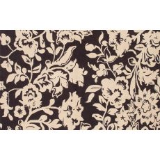 Batik Brown Hook Rug, 5 X 8