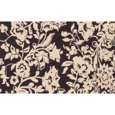 Batik Brown Hook Rug, 8 x 10