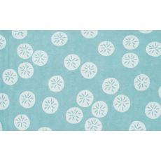 Sand Dollar Blue Hook Rug, 8 X 10