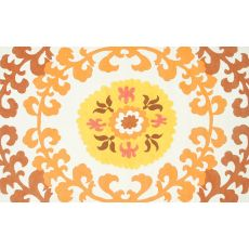 Suzani Gold Hook Rug, 7.6 X 9.6