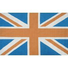 Union Jack Orange Hook Rug, 5 X 8