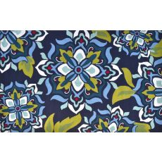 Andalucia Navy Blue Hook Rug, 24 X 39