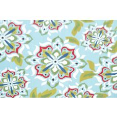 Andalucia Light Blue Hook Rug, 24 X 39